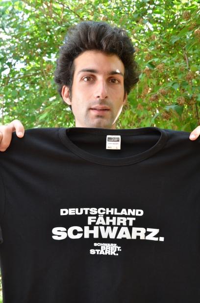 Deutschland fährt schwarz T-Shirt